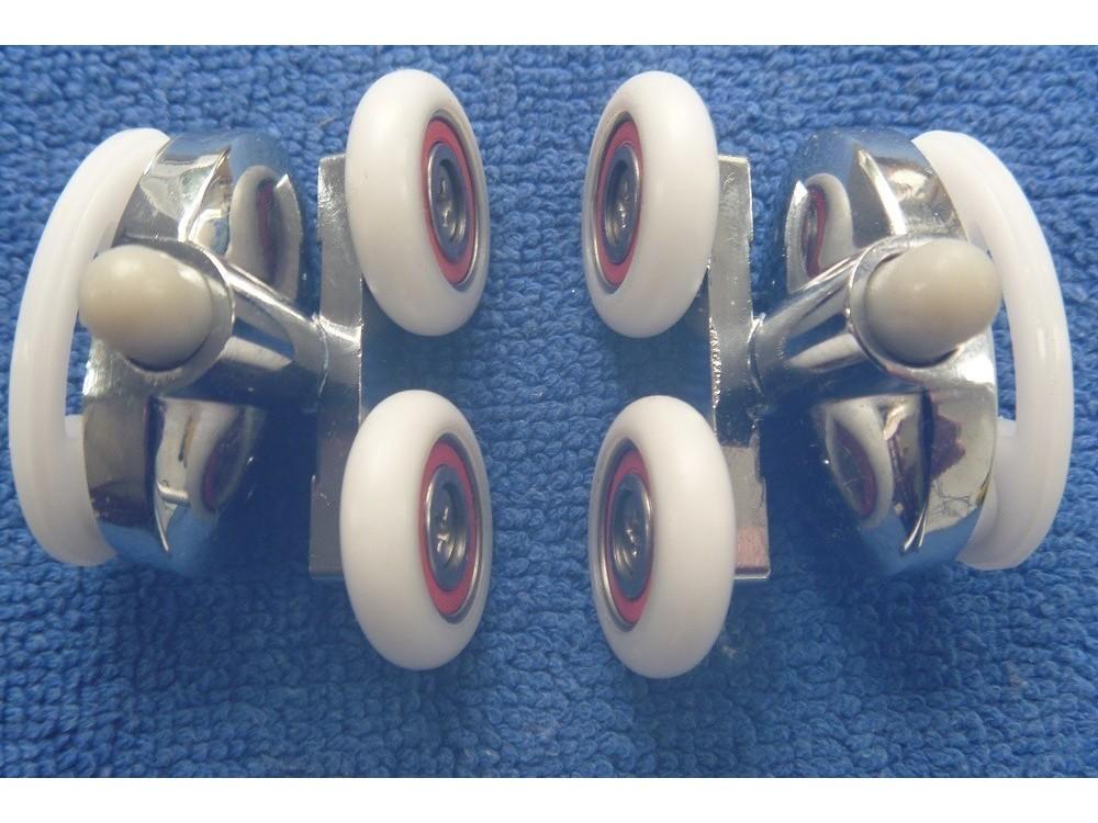 Shower Door Rollers Sr007 Lower Units Pair